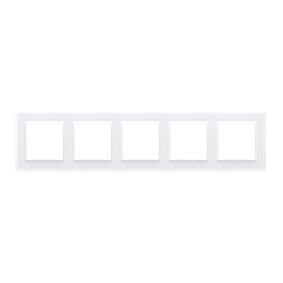 Ramka 5- krotna biały-254346