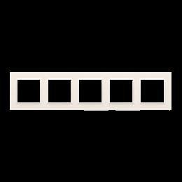 Ramka 5- krotna kremowy-254347