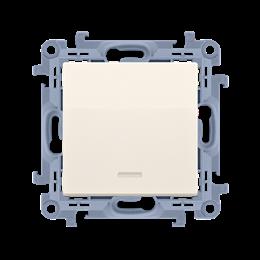 Łącznik jednobiegunowy z podświetleniem LED kremowy 10AX-254337