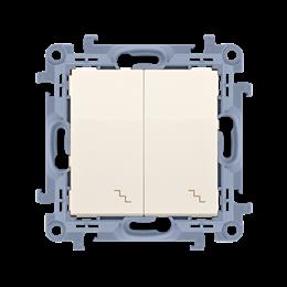 Łącznik schodowy podwójny kremowy 10AX-254369