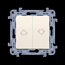 Łącznik żaluzjowy pojedynczy kremowy 10A-254388