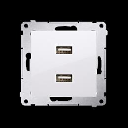 Ładowarka USB podwójna biały 2,1A-252877