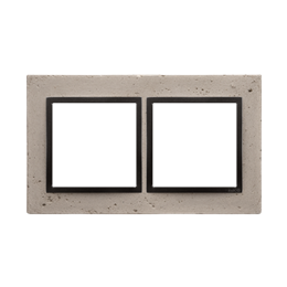 Ramka 2-krotna betonowa Funda mente-251502
