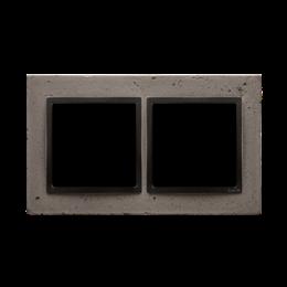 Ramka 2-krotna betonowa Szorstka przyjaźń-251505