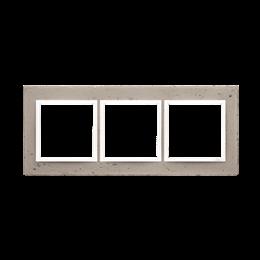 Ramka 3-krotna betonowa Al betone-251521