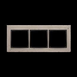 Ramka 3-krotna betonowa Funda mente-251517