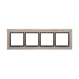 Ramka 4-krotna betonowa Funda mente-251533