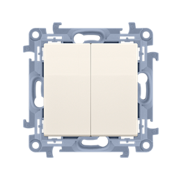 Łącznik schodowy podwójny bez piktogramu kremowy 10AX-254379