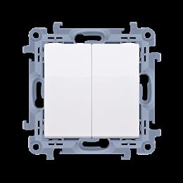 Łącznik schodowy podwójny z podświetleniem LED bez piktogramu biały 10AX-254380