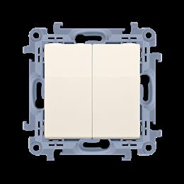 Łącznik schodowy podwójny z podświetleniem LED bez piktogramu kremowy 10AX-254381