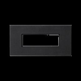 Plakietka przyłączeniowa K45 złącze 5-polowe do złącza GESIS® 90×45mm szary grafit-256598