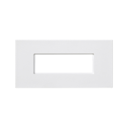 Plakietka przyłączeniowa K45 złącze 5-polowe do złącza GESIS® 90×45mm czysta biel-256599