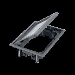Puszka podłogowa FB prostokątna 8×K45 12mm z zamkiem szary 85mm÷116mm IK:IK08-255891