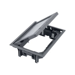 Puszka podłogowa FB prostokątna 8×K45 5mm z zamkiem szary 85mm÷116mm IK:IK08-255890