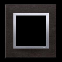 Ramka 1- krotna metalowa inox yin-251469