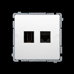 Gniazdo HDMI + komputerowe RJ45 kat.6. biały-254051