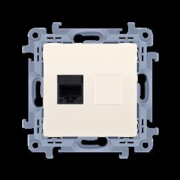 Gniazdo komputerowe RJ45 kategoria 5e kremowy-254524