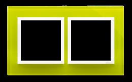 Ramka 2- krotna szklana limonkowy sorbet-251481