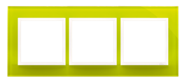 Ramka 3- krotna szklana limonkowy sorbet-251496