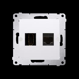 Gniazdo HDMI + komputerowe RJ45 kat.6. biały-253031