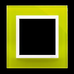 Ramka 1-krotna szklana limonkowy sorbet-251461