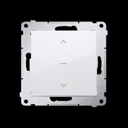 Łącznik żaluzjowy pojedynczy trójpozycyjny (1-0-2) biały 10A-252593