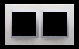 Ramka 2- krotna metalowa inox klasyczny-251488