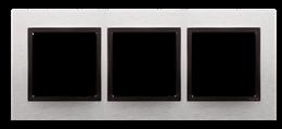 Ramka 3- krotna metalowa inox yang-251508