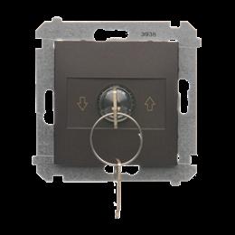 """Łącznik na kluczyk żaluzjowy 3 pozycyjny """"I-0-II"""" brąz mat, metalizowany 5A-252615"""