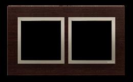Ramka 2- krotna drewniana złote wenge-251493