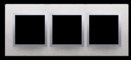 Ramka 3- krotna metalowa inox klasyczny-251510