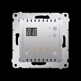 Regulator temperatury z wyświetlaczem (czujnik wewnętrzny) srebrny mat, metalizowany-252748