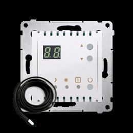 Regulator temperatury z wyświetlaczem z czujnikiem zewnętrzym (sonda) biały-252752