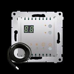 Regulator temperatury z wyświetlaczem z czujnikiem zewnętrzym (sonda) srebrny mat, metalizowany-252755