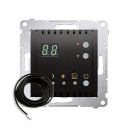 Regulator temperatury z wyświetlaczem z czujnikiem zewnętrzym (sonda) antracyt, metalizowany-252757