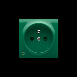 Pokrywa do gniazda wtyczkowego pojedynczego z uziemieniem antybakteryjny zielony-252438