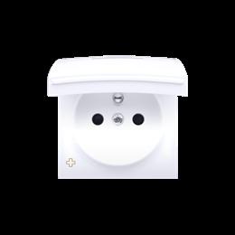 Pokrywa do gniazda wtyczkowego z uziemieniem - do wersji IP44- klapka w kolorze pokrywy antybakteryjny biały-252453