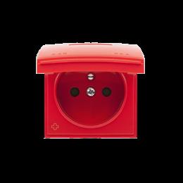 Pokrywa do gniazda wtyczkowego z uziemieniem - do wersji IP44- klapka w kolorze pokrywy antybakteryjny czerwony-252439