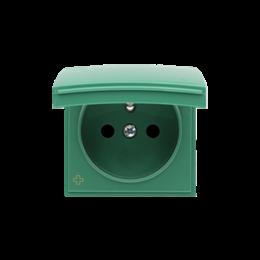 Pokrywa do gniazda wtyczkowego z uziemieniem - do wersji IP44- klapka w kolorze pokrywy antybakteryjny zielony-252440