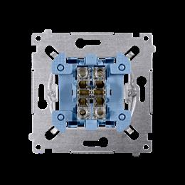 Przycisk podwójny zwierny. Dwuobwodowy: 2 wejścia, 2 wyjścia. (mechanizm) 10AX 250V, szybkozłącza, nie dotyczy-251978