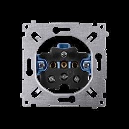 Gniazdo wtyczkowe pojedyncze z uziemieniem (mechanizm) 16A 250V, zaciski śrubowe,-252427