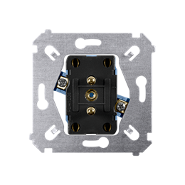 Gniazdo wtyczkowe podwójne z uziemieniem (mechanizm) 16A 250V, zaciski śrubowe,-252383