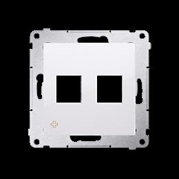 Pokrywa gniazd teleinformatycznych na Keystone płaska podwójna antybakteryjny biały-253085