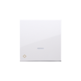 Klawisz pojedynczy z oczkiem do łączników i przycisków podświetlanych antybakteryjny biały-251965