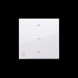 Klawisze do łącznika żaluzjowego pojedyńczego trójpozycyjnego 1-0-2 antybakteryjny biały-252554