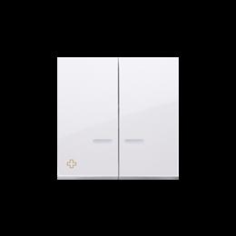 Klawisz podwójny do łączników i przycisków podświetlanych antybakteryjny biały-251993