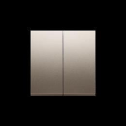 Klawisz podwójny do łączników i przycisków złoty mat, metalizowany-251981