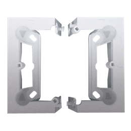 Puszka natynkowa składana, pojedyncza srebrny mat, metalizowany-251665