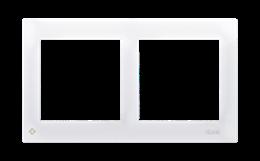 Ramka 2- krotna do puszek karton-gips antybakteryjny biały-251601