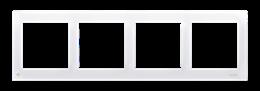 Ramka 4- krotna do puszek karton-gips antybakteryjny biały-251639